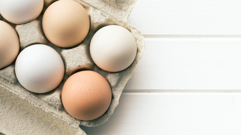 uova per una omelette al patè di carciofini